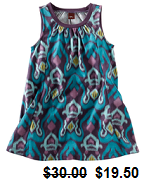 Tidepool trapeze dress