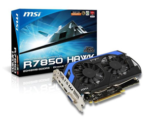 MSI R7850 HAWK 2G 980/4800 HD7850